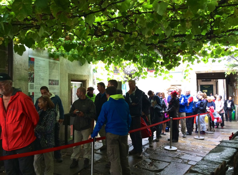 Camino-Line at the Peregrino Office
