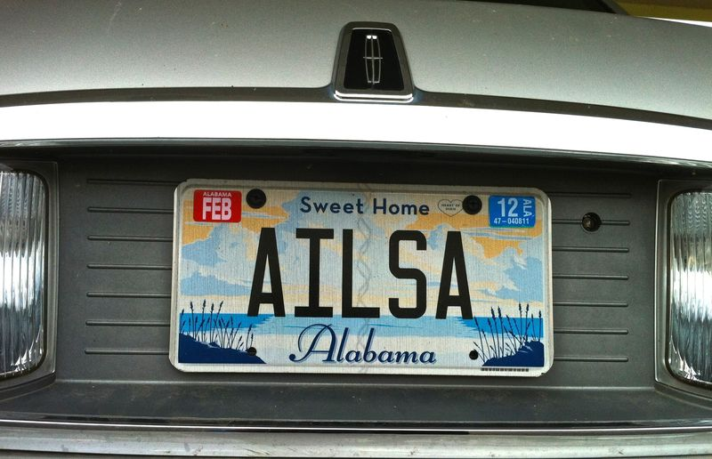 Ailsa License Plate