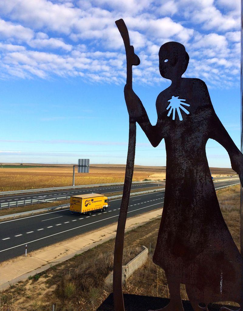 Pilgrim Sculpture on the Highway